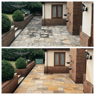 INDIAN SANDSTONE PATIO BLACKSPOT REMOVAL SERVICE, FEEL THE PRESSURE UK