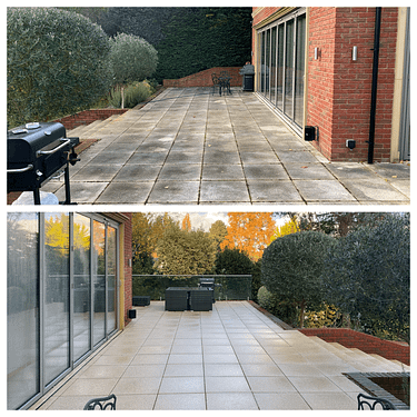 pressure washing patio Cobham
