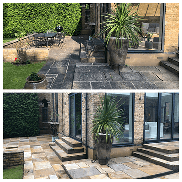 Patio cleaning service / patio black spot removal services, Feltham Middlesex