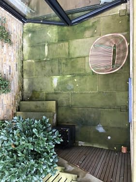 How to remove Algae from patio surfaces