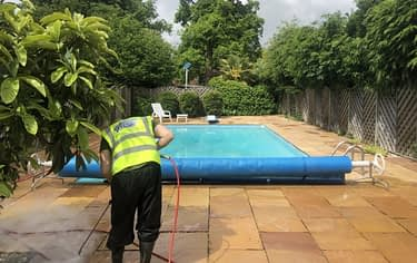 patio cleaning, swimming pool cleaning
