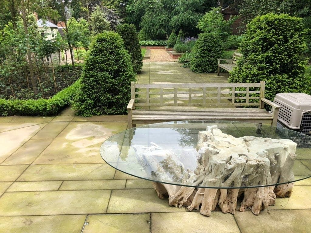 Historic stone cleaning on the Bishops Avenue London N2