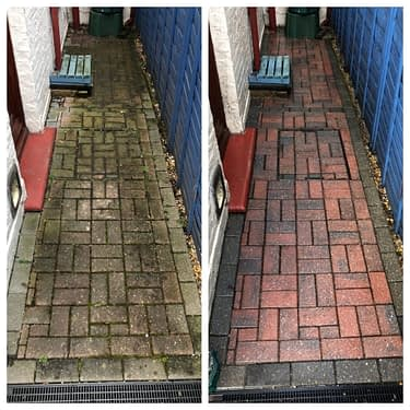 Block paving patio & driveway cleaning services