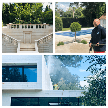 Stone cleaning services in London and Surrey