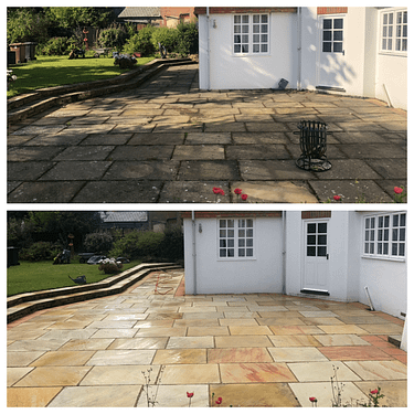 stone patio cleaning service Tadworth, Surrey