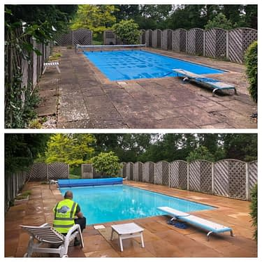 cleaning patio slabs Surrey