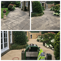 Therma-tech patio steam cleaning before and after Cobham