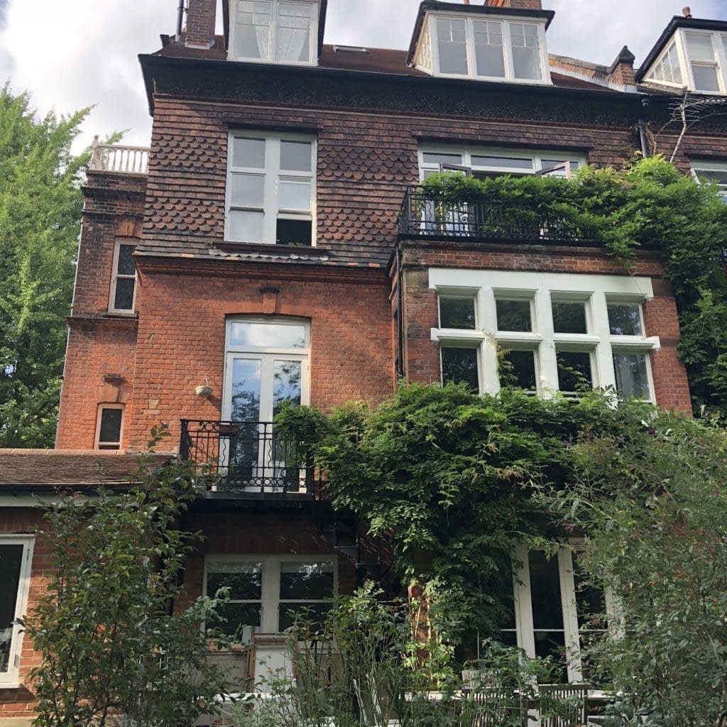 Victorian property in Hampstead London NW3 before brick cleaning