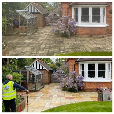 stone patio cleaning and patio restoration service