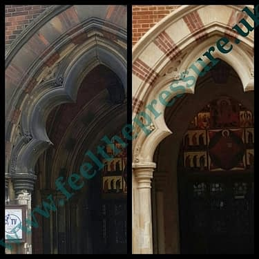 Before and After - Stone Archway on Church