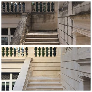 Before and After - No Damage to the Stone!