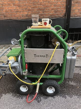 Therma-Tech cleaning early morning