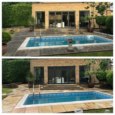 Indian Sandstone Patio Cleaning Services