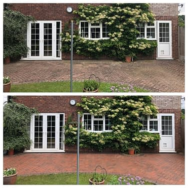 block paving pressure cleaning service before and after