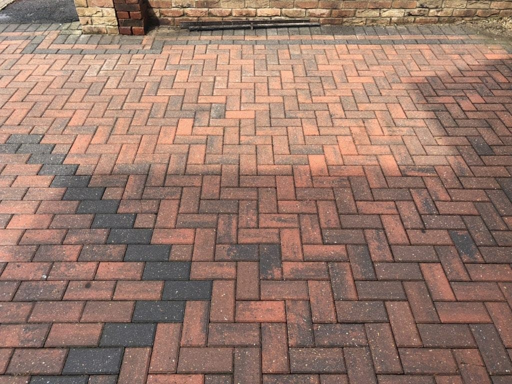 Concrete removal from block paving driveway – Surbiton Surrey KT1