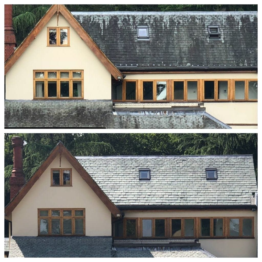 Tudor Hall Pressure Cleaned Driveway and Roof
