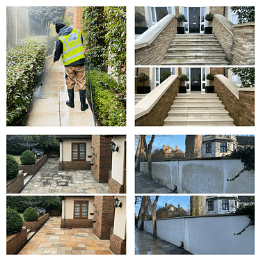 jet washing before and after pictures