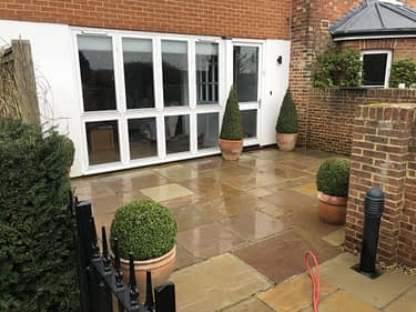 indian sandstone patio cleaning and black spot removal service Tonbridge